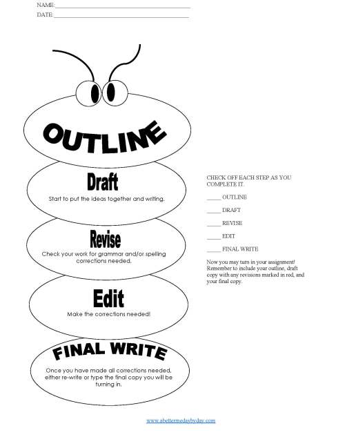 Writing and essay outline