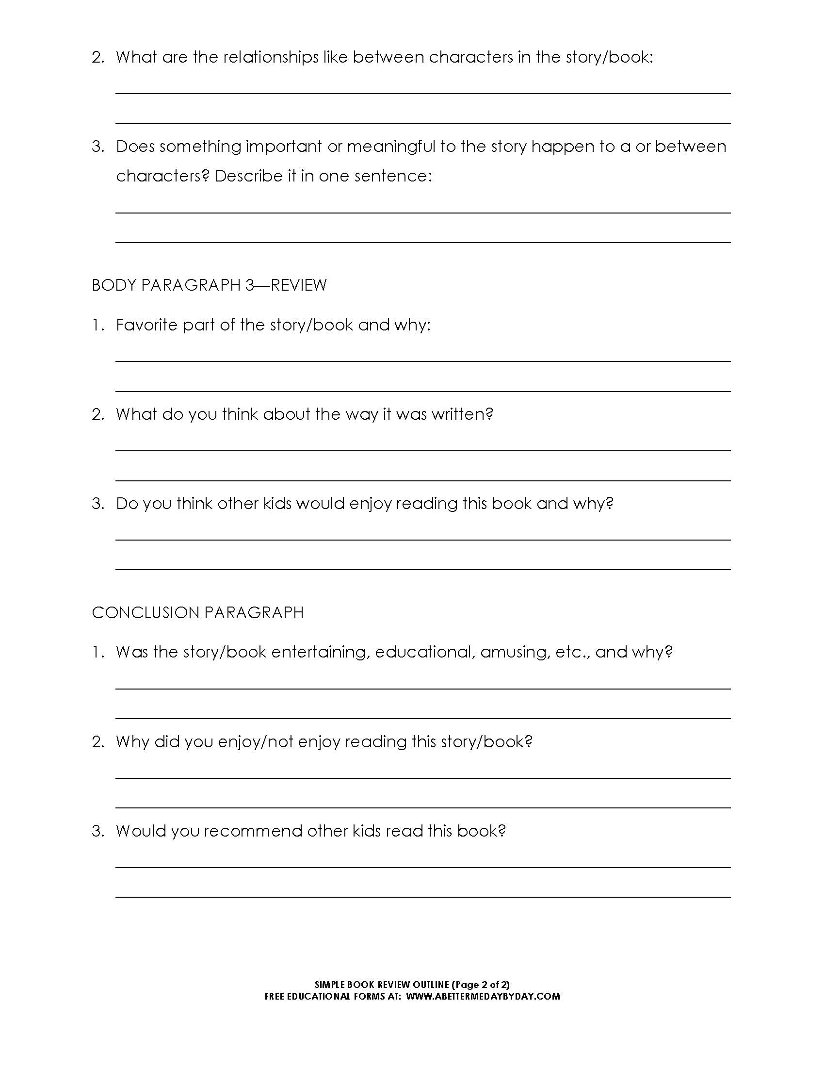 Basic 5 paragraph essay template outline