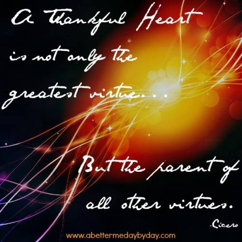 BMDD-Encouragement and inspirational quotes-Thankful Heart - Visit www.abettermedaybyday.com for more inspirational and encouraging quotes posted weekly.