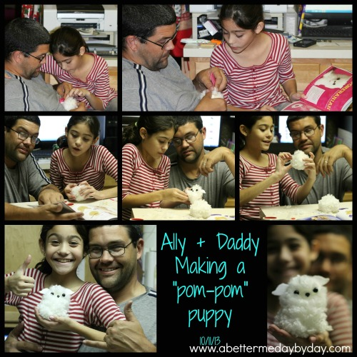 Acitivity to do with your child-making a pom pom puppy. www.abettermedaybyday.com