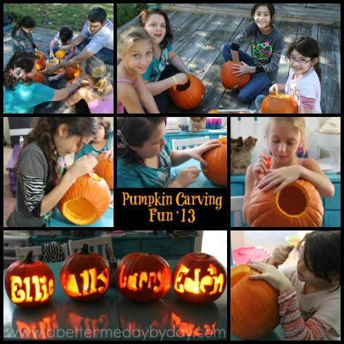 Fall activity for the kids-Pumkin carving. Activities for kids. www.abettermedaybyday.com