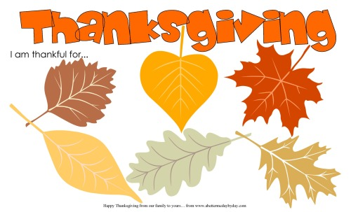 Thanksgiving Activity Leaves place mat. More family activities at www.abettermedaybyday.com