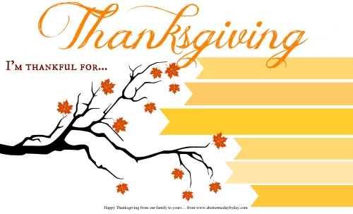 Thanksgiving Activity Place mat print out. More family activities at www.abettermedaybyday.com