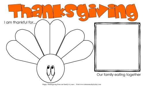 Thanksgiving Activity Place mat for kids. More family activities at www.abettermedaybyday