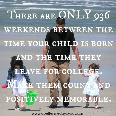 Make the time with your kids count. Encouragement and Inspiration at www.abettermedaybyday.com