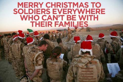 Merry Christmas service members and their families
