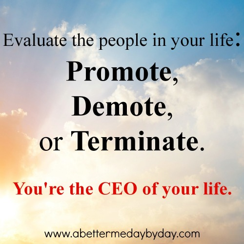 You are the CEO of your life. Encouragement and Inspiration at www.abettermedaybyday.com
